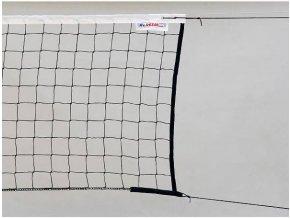 Volejbalová síť černá s lankem STANDARD