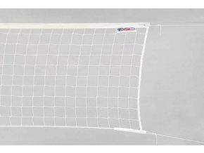 Volejbalová síť bílá s lankem STANDARD