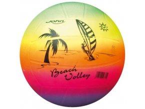 John volejbalový míč Beach DUHA, 22 cm