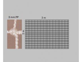 Záclonka na házenkářskou síť bílá 3mm PP