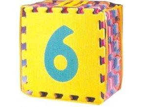 Pěnové puzzle - Čísla, 30x30x1,4 cm, 10 ks - FM930