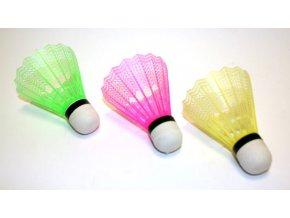 Košíček badminton plast 3ks - barevný