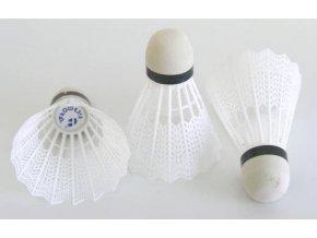 Košíčky badminton plast 12ks - bílé
