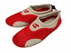 Dětské neoprenové boty do vody Alba, červeno bílé