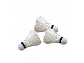 Míček badminton peří bílé - sada3 ks