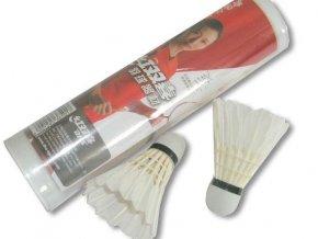Míček badminton peří DHS 402A-sada6ks
