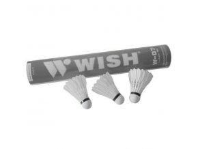 Míček badminton WISH -peří 805