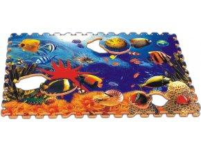 Pěnové puzzle - Svět moře, 60x90x1,4 cm, 6 ks, vyjímatelné motivy - PN110