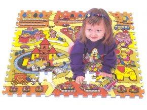 Pěnové puzzle, 92x92x1,4 cm, 81 ks