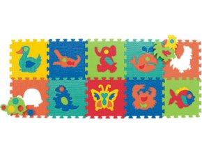 Pěnové puzzle - Zvířátka, 30x30x1,2 cm, 10 ks - 931N