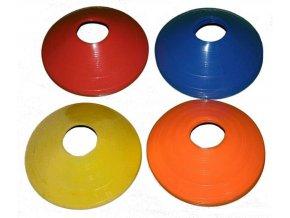 Kužely kopaná nízké 20 ks modro/žluto/oranžovo/červené