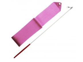 Gymnastická stuha + tyčka - růžová