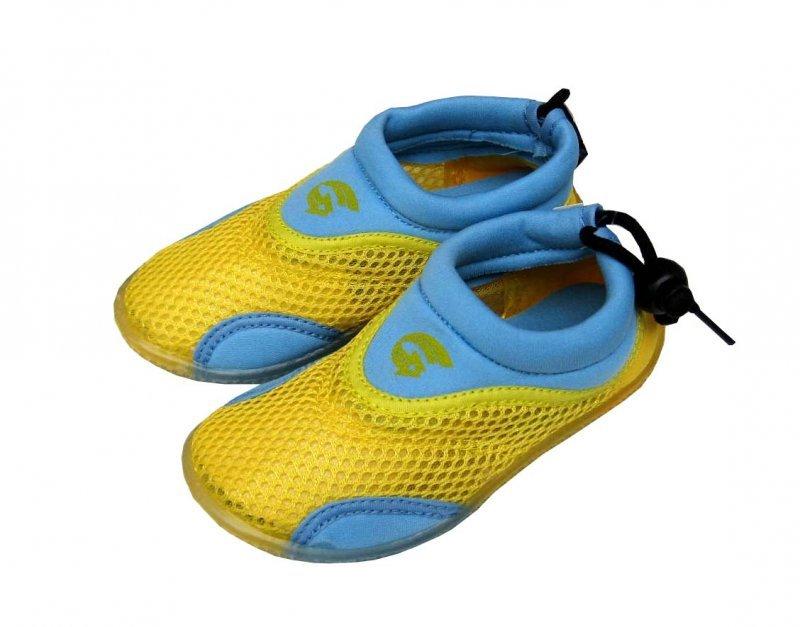 Dětské neoprenové boty do vody Alba, žlutomodré Velikost: 27