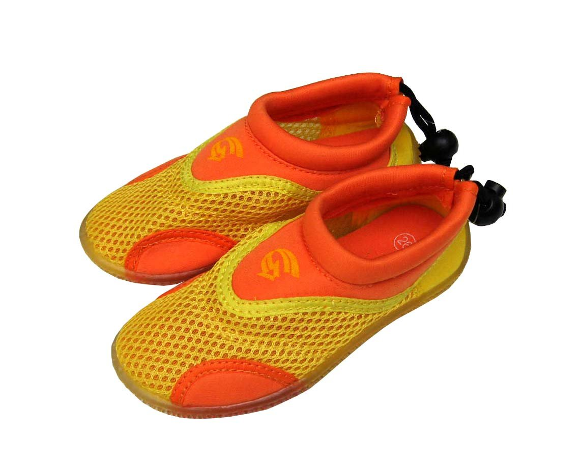 Dětské neoprenové boty do vody Alba, žlutooranžové Velikost: 29