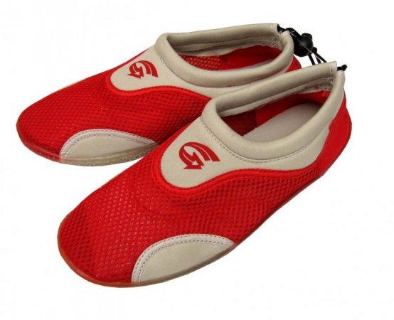 Dětské neoprenové boty do vody Alba, červeno bílé Velikost: 31