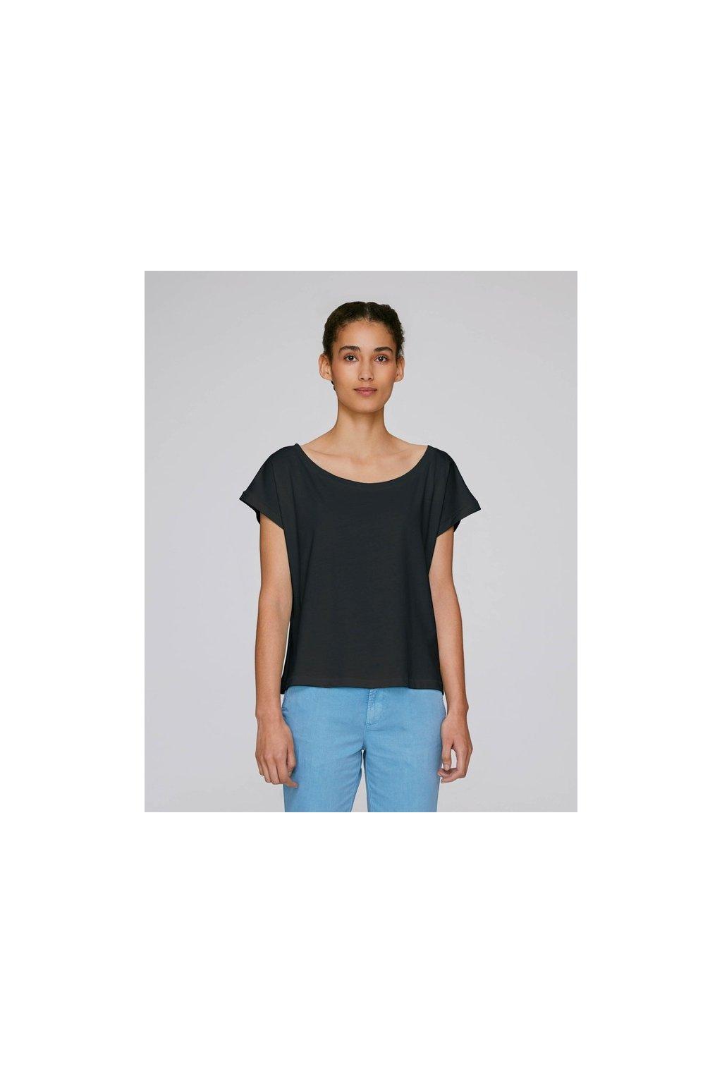 Bavlněná dámská trička FLIES černá