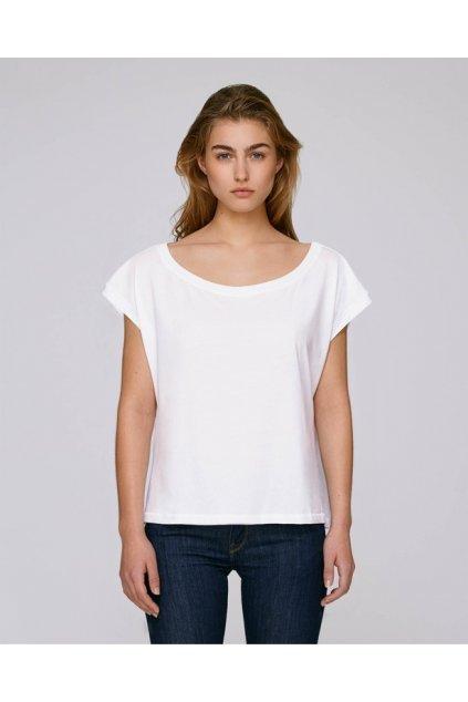 Bavlněná dámská trička FLIES Bíla