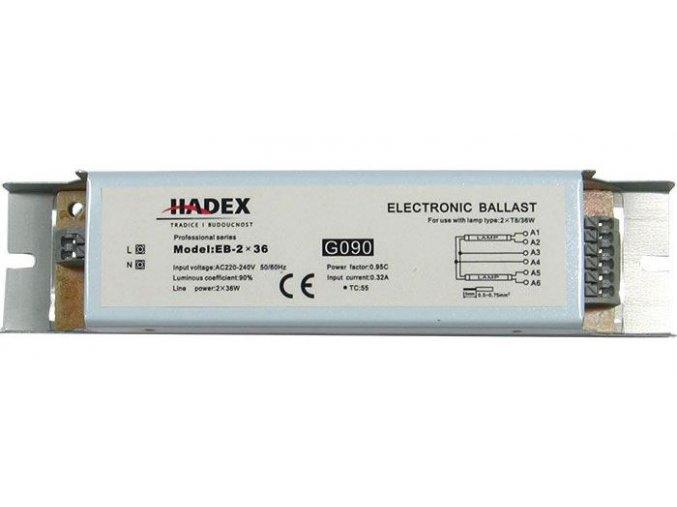 Elektronický predradník EB-2x36 pre 2 žiarivky 36W
