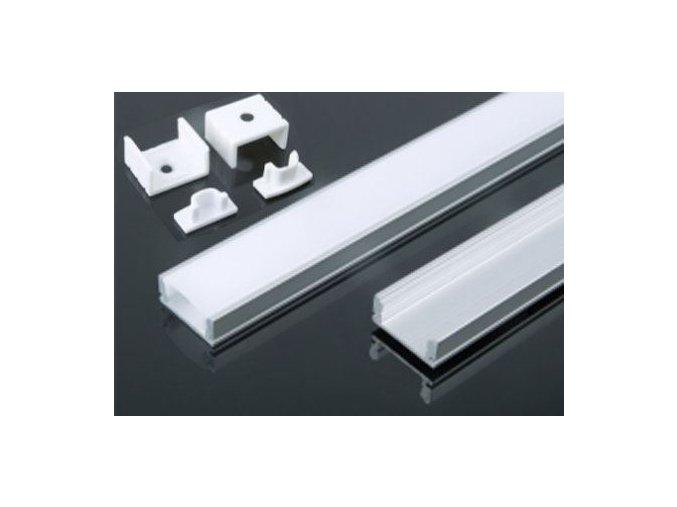 Hliníková lišta-profil MS-509 pre LED pásik 8-10mm, dĺžka 1m