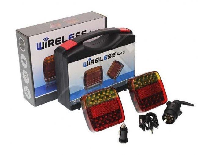 Koncové magnetic LED svetlá na prívesný vozík, bezdrôtová