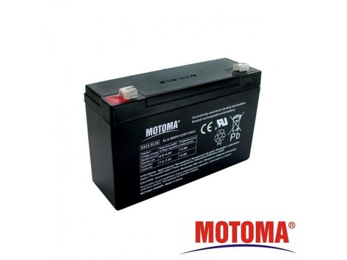 Baterie olověná   6V / 12Ah  MOTOMA bezúdržbový akumulátor