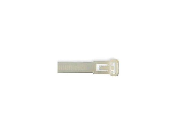 Sťahovacia páska uvoľniteľné 7x250mm biela
