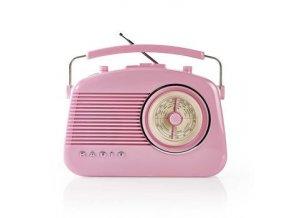 Rádio AM/FM v retro provedení růžové NEDIS RDFM5000PI