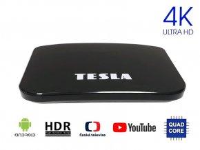 TESLA TEH-500, Hydridní DVB-T2 HEVC FTA přijímač Android, KODI