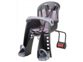 sedačka Polisport Bilbi Junior přední se zadním úchytem černo-tmavě šedá