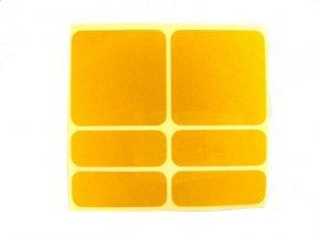samolepky reflexní ShamanRacing set 6ks žluté