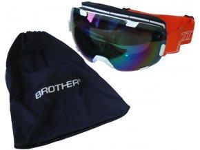 brýle lyžařské BROTHER B298 s velkým zorníkem bílé
