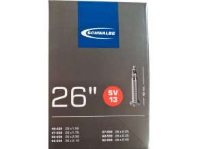 """duše SCHWALBE SV13 26""""x1.50-2.40 (40/62-559) FV40mm"""