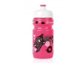 lahev ZEFAL dětská LITTLE Z+držák Ninja Girl růžová