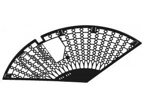 kryt paprsků-mřížka MONTE GRAPPA černá