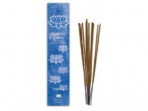 tyčiny vonné Golden Lotus - vanilka