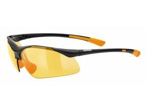 brýle UVEX Sportstyle 223 černo/oranžové