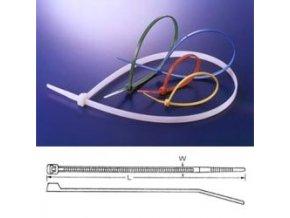 Pásek stahovací standard 200x2.5mm černý *