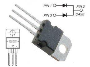 MBR20100 dióda schottky dvojitá 100V / 2x10 / TO220AB