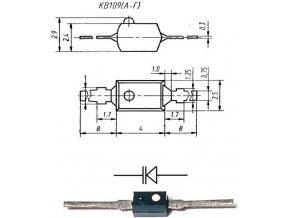 KV109B, varikap 2-25pF, SOD23 / BSW409V /