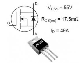 IRFZ44 N FET 60V / 46A 150W 28mOhm TO220 = RFP50N06