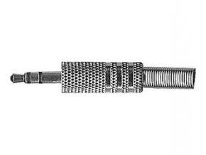 Konektor JACK 3,5 stereo kovový niklovaný