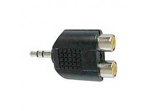 Redukcia JACK 3,5 stereo konektor / 2x CINCH zdierka