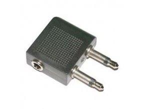 Redukcia 2x JACK 3,5 mono konektor / JACK 3,5 stereo zdierka
