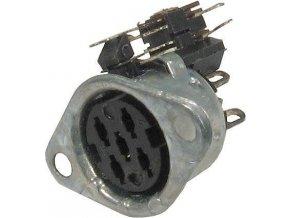 DIN zdierka Unitra GN590-1 5pol.panelová s vypínačom