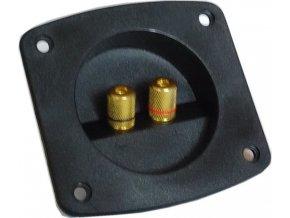 Reproterminál 85x95mm s 2 svorkami-GOLD