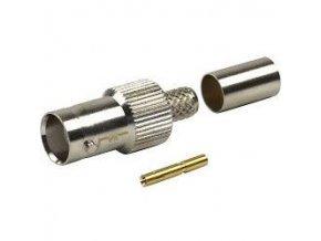 BNC zdierka lisovacie, kábel 6mm, (RG59)