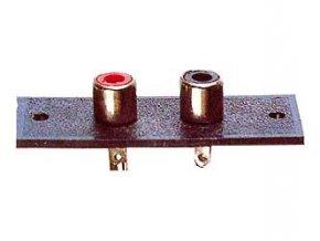 CINCH zdierka panelová 2x (25x50mm)