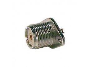 VHF zdířka (SO239) panelová , upevnění 2 šrouby