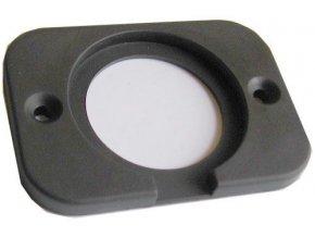 Rámček pre zdierky 12V, 2xUSB a V-meter R002