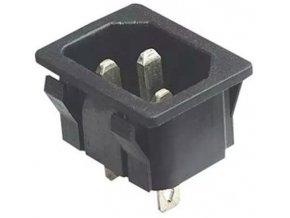 Sieťová vidlica IEC60320 230V na panel / AS04 /